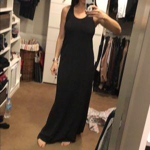 Lululemon black maxi dress coverup. Size 8.